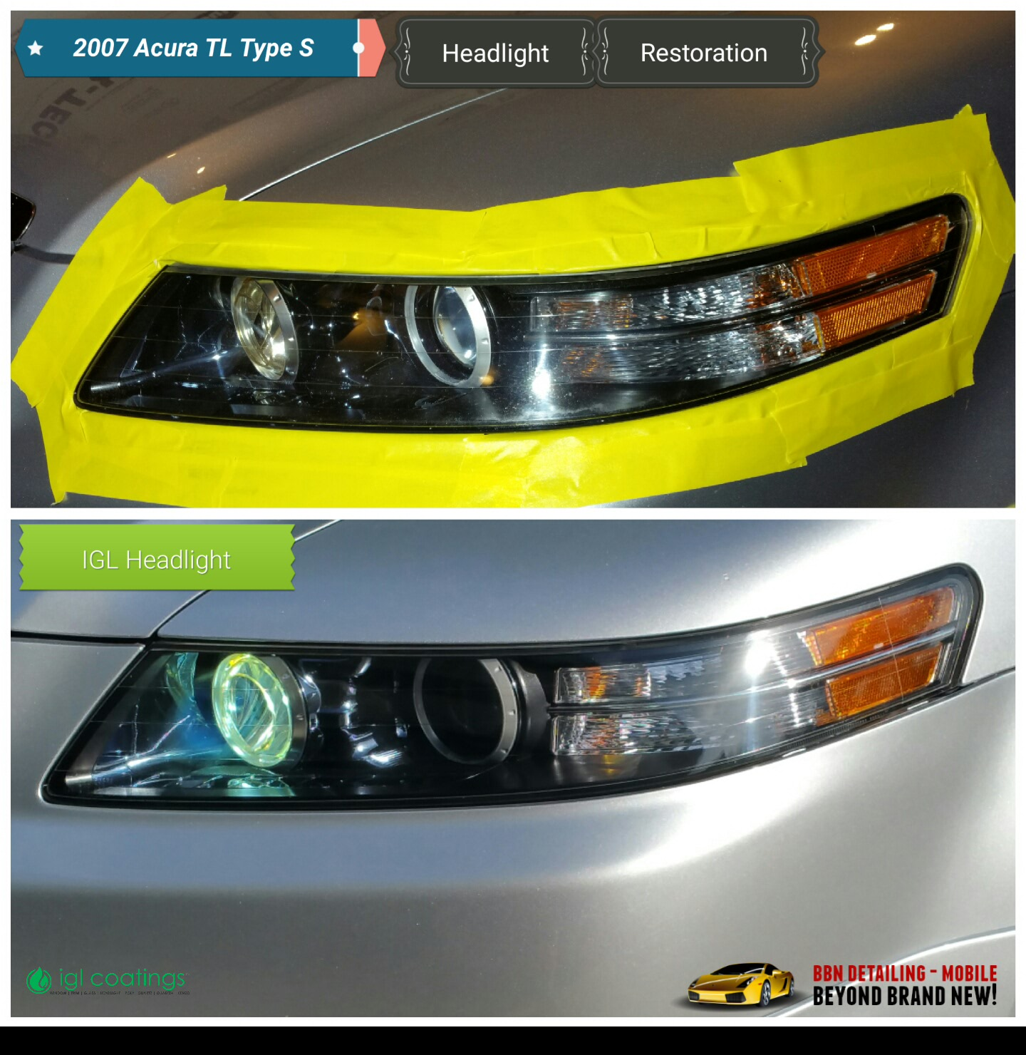 *Headlight Restoration* (With // Without Ceramic Coating